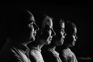 Portrait de famille Noir et Blanc - Lausanne