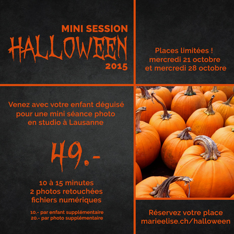 Mini Session Photo Halloween à Lausanne