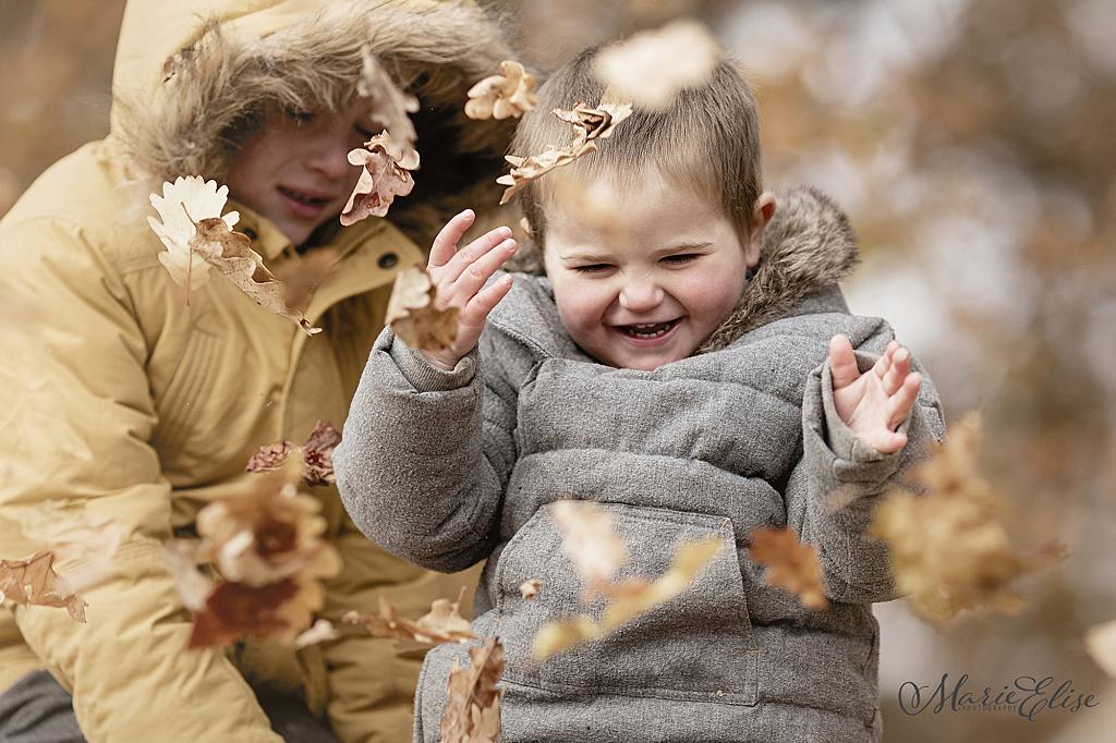 Enfants Automne Photographie