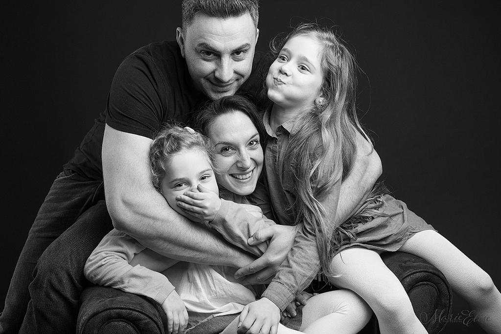 Portrait de Famille - Noir et Blanc