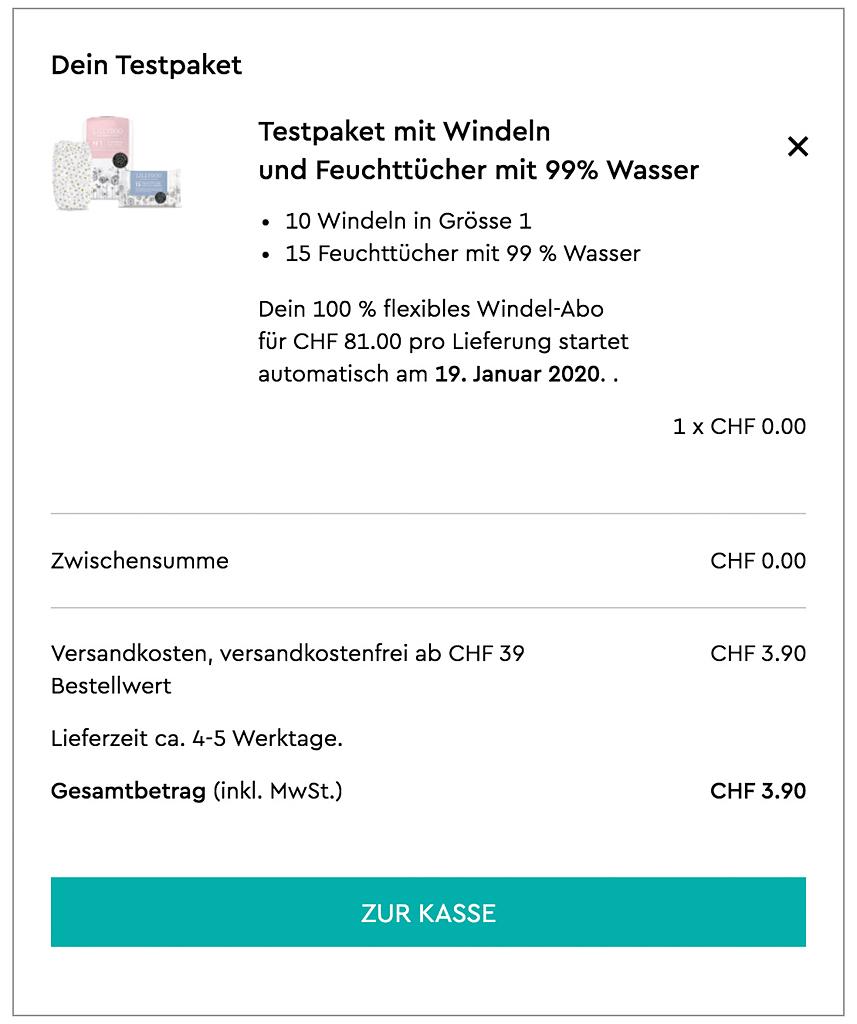 Abonnement de couches pour bébé en Suisse Romande