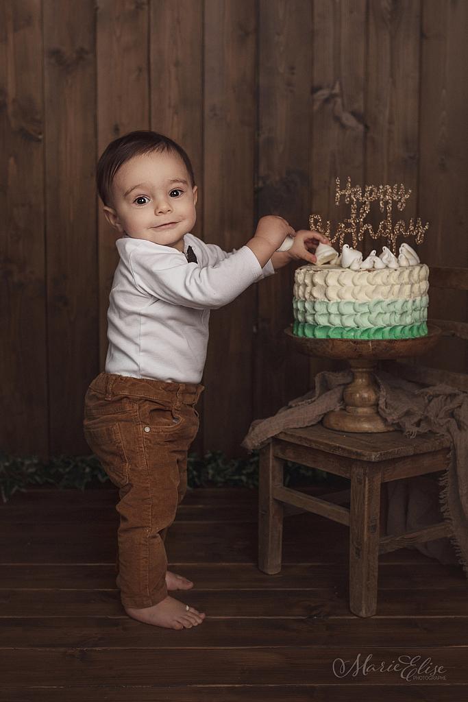 Gateau anniversaire bébé 1 an séance photo