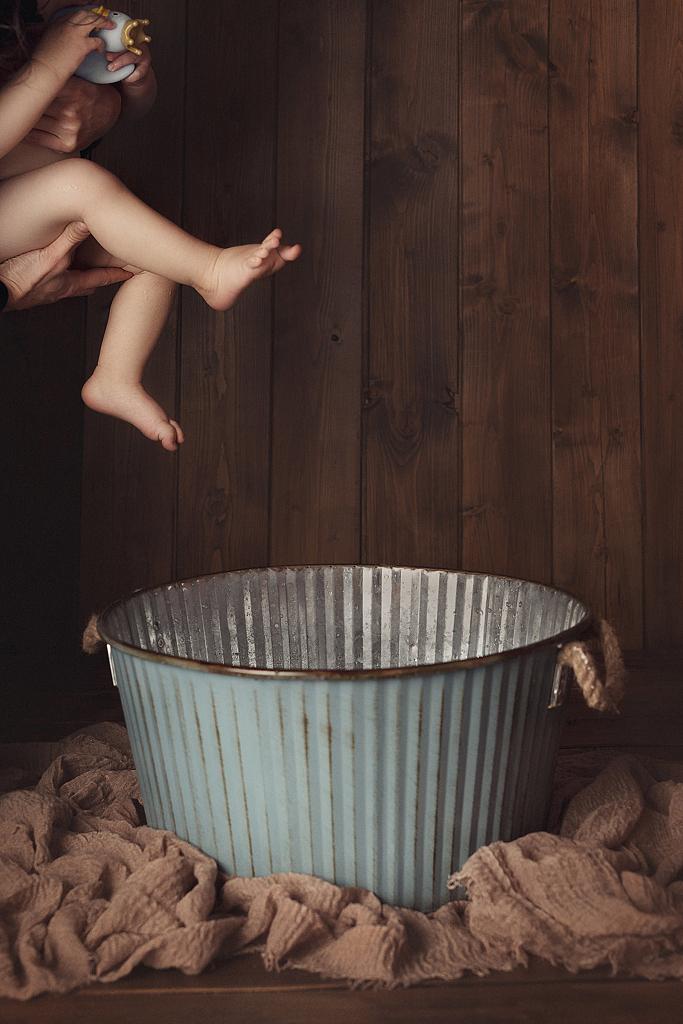 Séance photo bain de lait bébé Lausanne