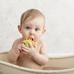 Séance photo dans le bain