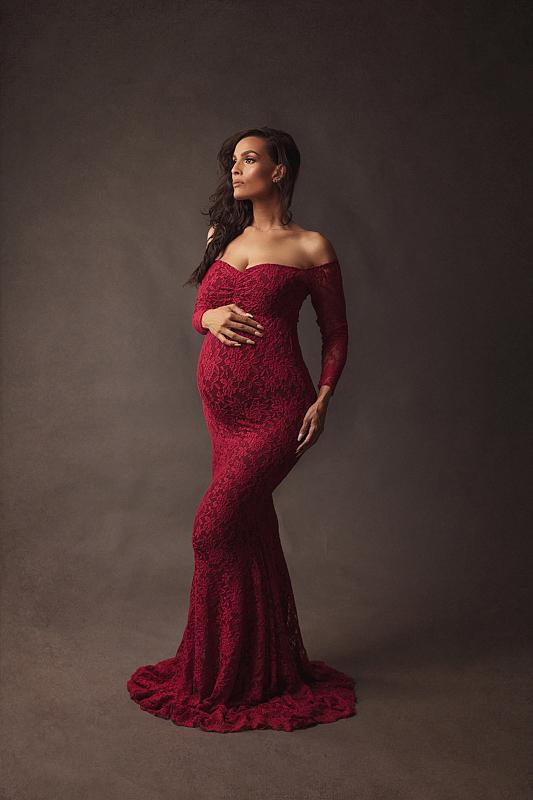 Shooting grossesse style fine art avec des robes Lausanne